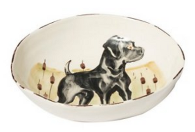 WILDLIFE BLACK LAB PASTA BOWL