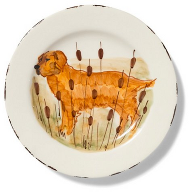WILDLIFE GOLDEN RETRIEVER SALAD PLATE
