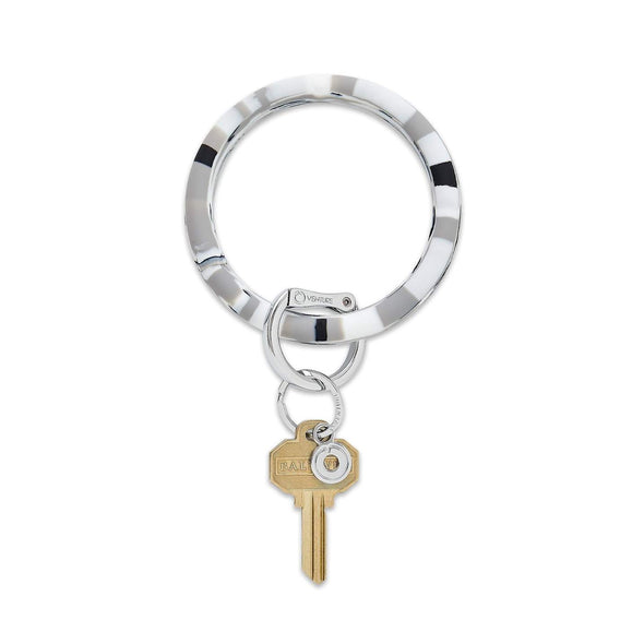 BIG O SILICONE KEY RING IN TUXEDO MARBLE