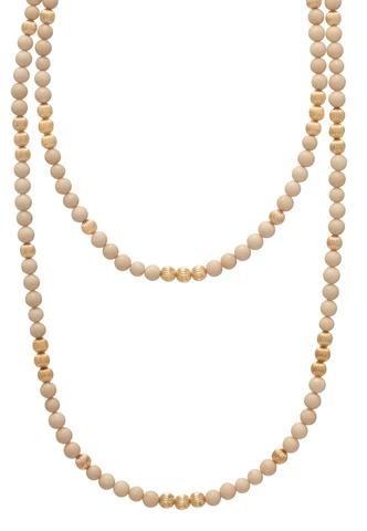 "41"" NECKLACE DIGNITY GOLD 6MM BEAD, RIVERSTONE"