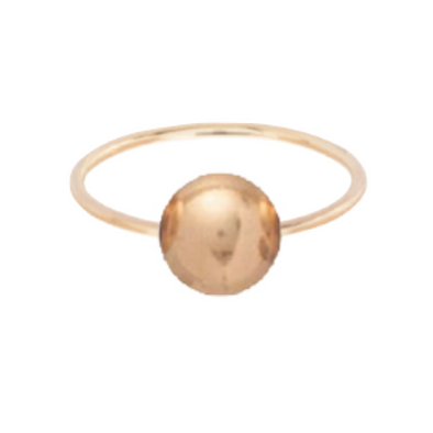 CLARITY BALL RING GOLD - SIZE 6