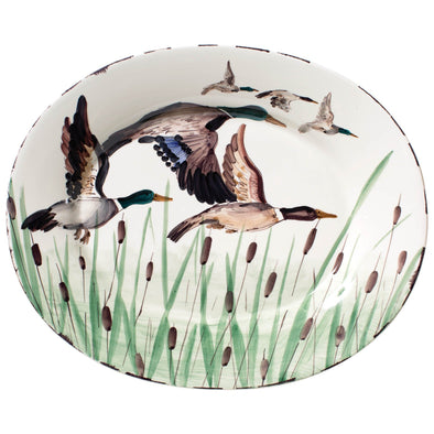 WILDLIFE LARGE OVAL PLATTER - MALLARD