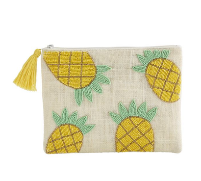 PINEAPPLE BEADED JUTE CASE