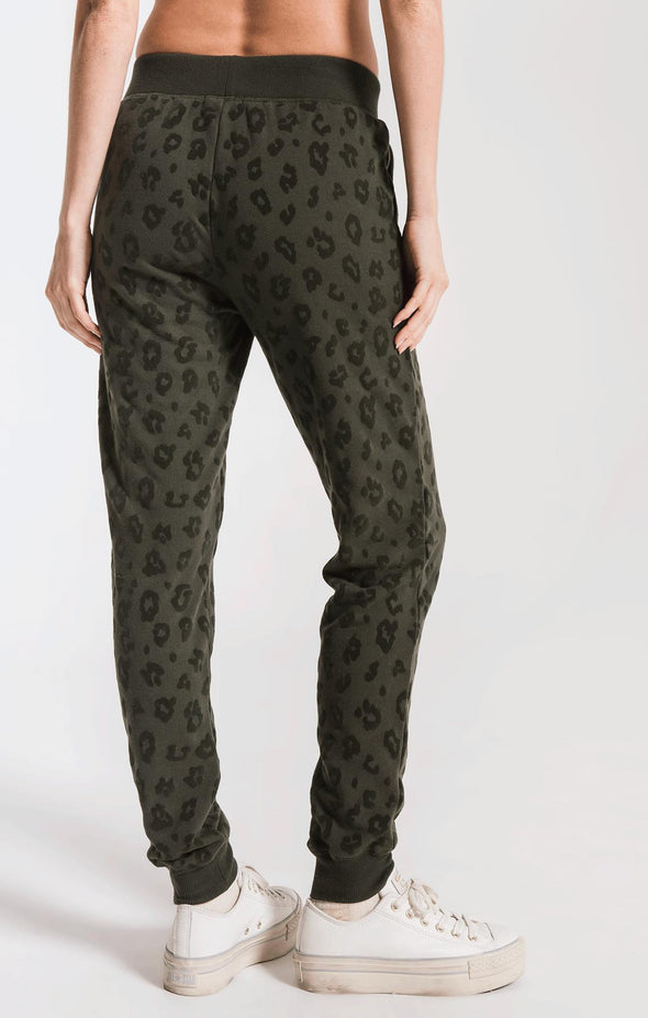 THE ANIMAL FLOCKED JOGGER