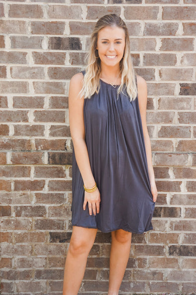 ASH GREY SHIFT DRESS
