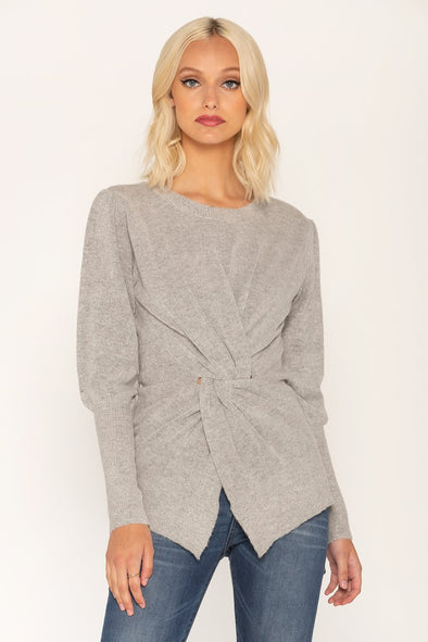 TWISTED LOVE SWEATER - GREY
