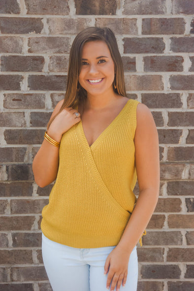 VELVET HEART JOSSLYN GOLD WRAP TANK