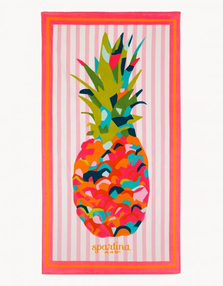 BEACH TOWEL, MORELAND PINEAPPLE