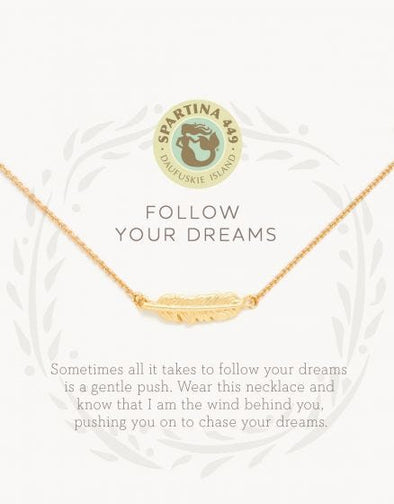 FOLLOW YOUR DREAMS SEA LA VIE NECKLACE