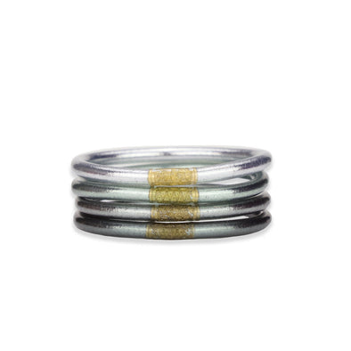 BUDHAGIRL ALL WEATHER BANGLES MOON S/4