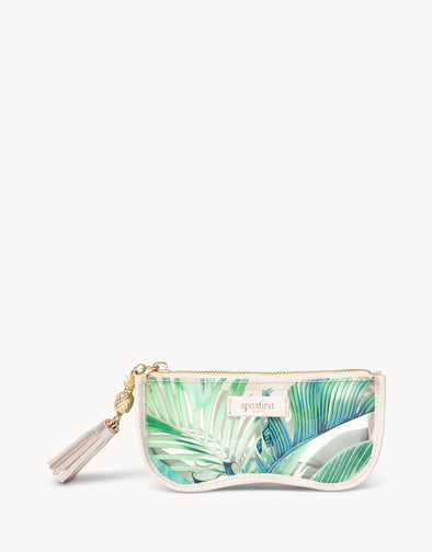 CABANA LEAF CLEAR SUNGLASS CASE