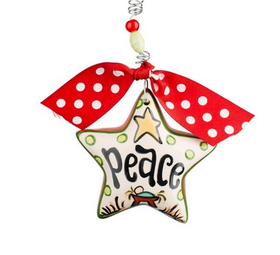 PEACE STAR PUFF ORNAMENT