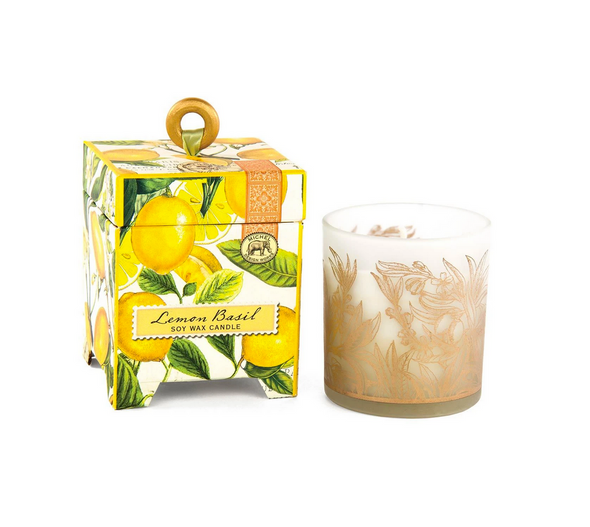 LEMON BASIL 6.5oz SOY WAX CANDLE