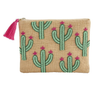 CACTUS BEADED JUTE CASE