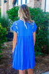 J.MARIE: BRE EMBROIDERED DRESS