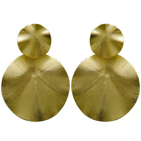 ISOLA EARRING IN BRUSHED GOLD