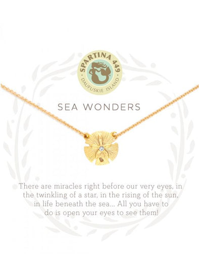 WONDERS/SAND DOLLAR SEA LA VIE NECKLACE