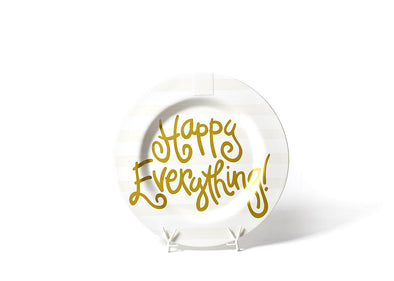 COTON COLORS WHITE STRIPE HAPPY EVERYTHING BIG ROUND PLATTER