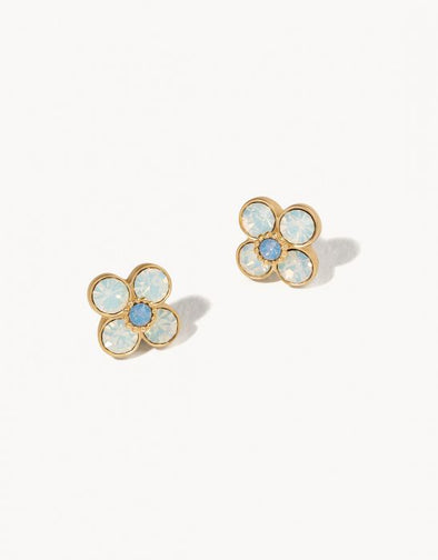 WHITE OPAL CALHOUN FLORAL STUD EARRINGS