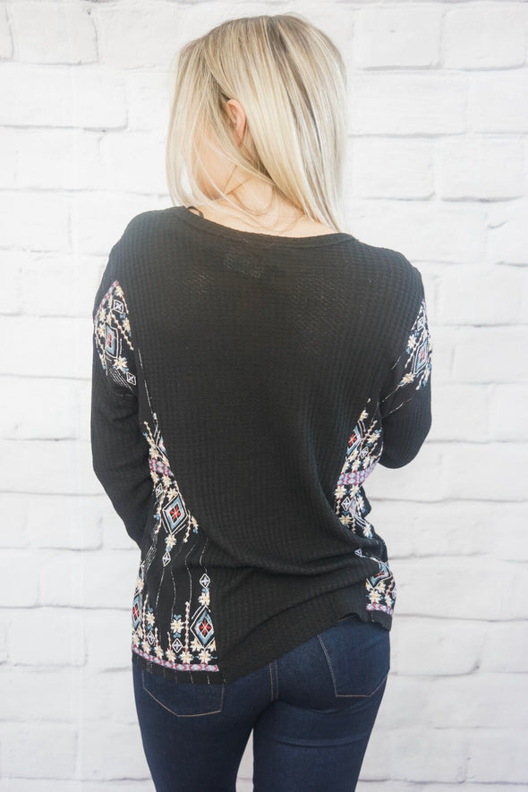 CASCADING FLORAL TOP