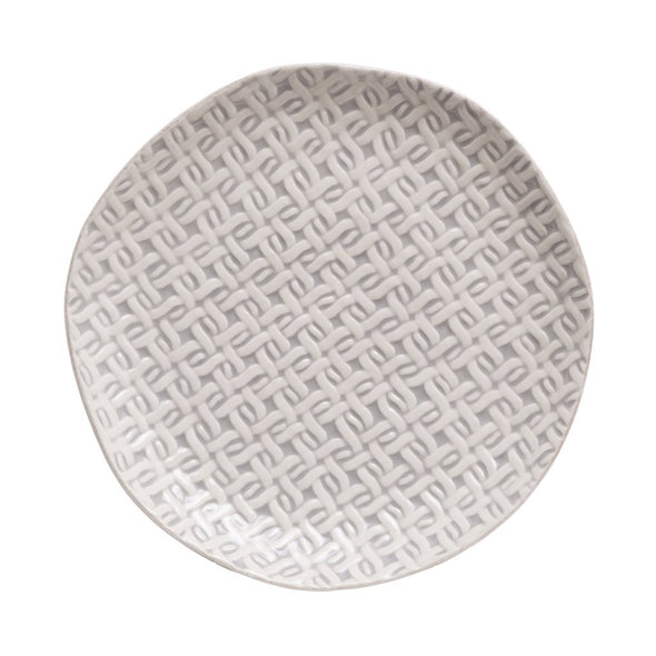 CANTARIA CANE WEAVE SALAD PLATE
