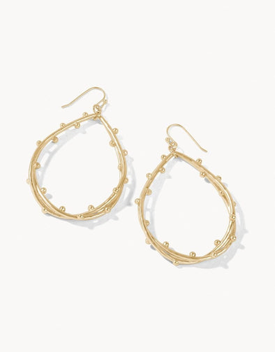 SPRITZ TEARDROP EARRINGS GOLD