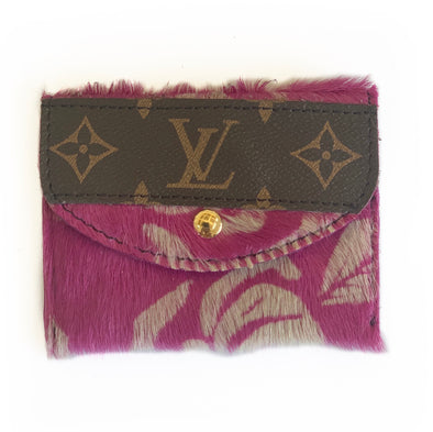 LOUIS VUITTON PINK COWHIDE WALLET