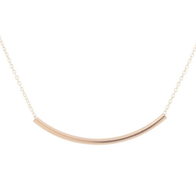 "16"" NECKLACE GOLD, BLISS BAR GOLD"