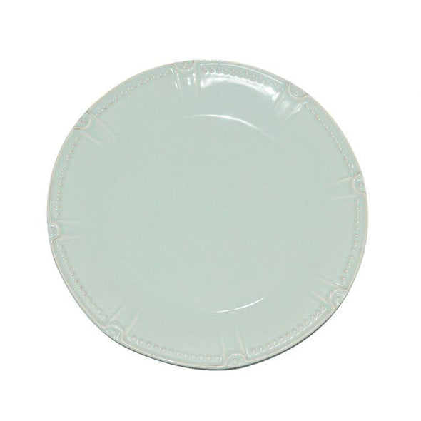 ISABELLA ROUND DINNER PLATE - ICE BLUE