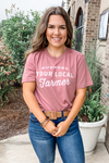 SUPPORT YOUR LOCAL FARMER TEE IN MAUVE