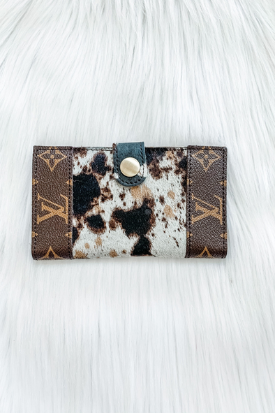 LOUIS VUITTON BIFOLD BUTTON CARD WALLET IN CALICO