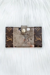 LOUIS VUITTON BIFOLD BUTTON CARD WALLET IN GRUNGE ROSE GOLD