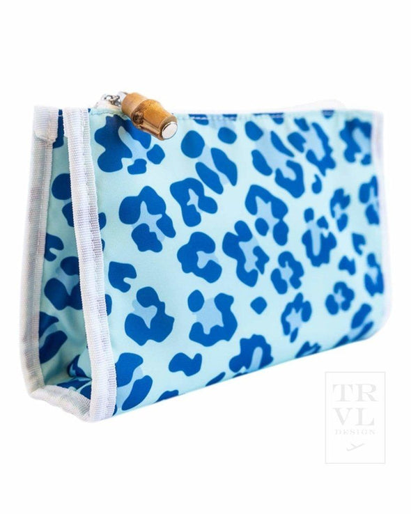 DAY TRIPPER BEAUTY BAG, BLUE LEOPARD