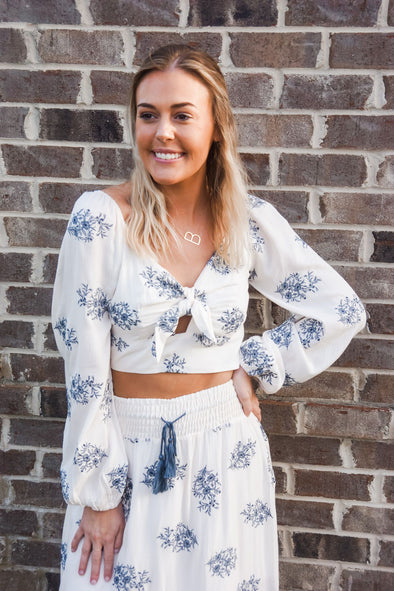 SHORT AND SWEET FLORAL CROP TOP BY MISS ME