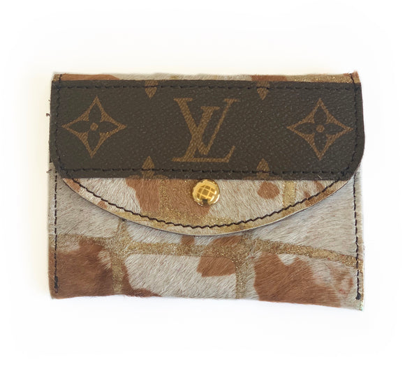 LOUIS VUITTON NEUTRAL COWHIDE WALLET