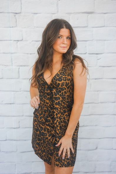 DELPHIA LEOPARD DRESS