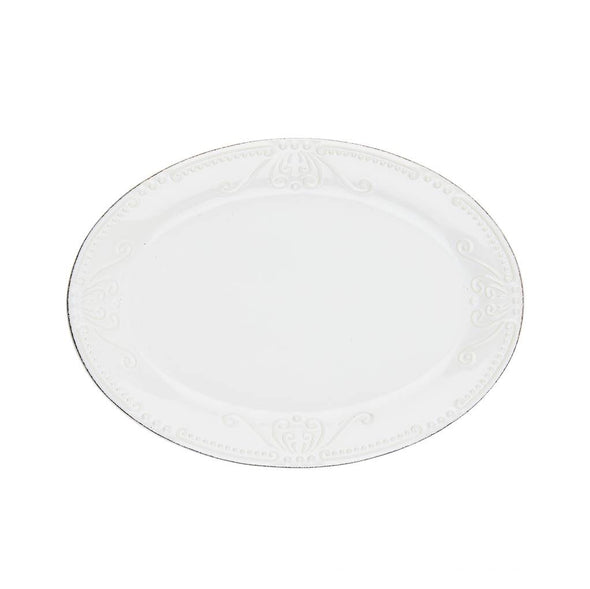 ISABELLA SMALL OVAL PLATTER - PURE WHITE