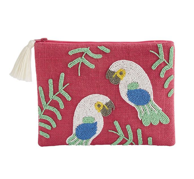 TOUCAN BEADED JUTE CASE