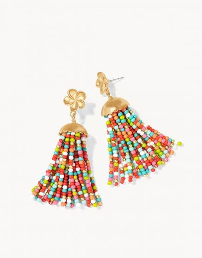 TROPICAL JELLYFISH TASSEL EARRINGS