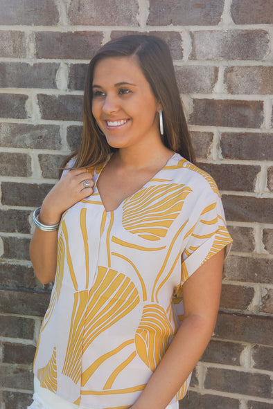 MILK AND HONEY ABSTRACT TOP