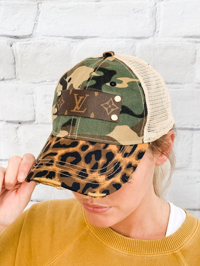 LOUIS VUITTON ANIMAL PRINT HAT