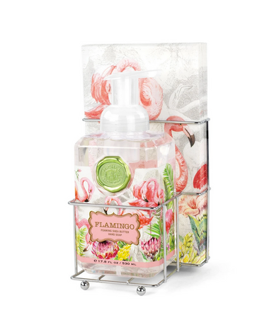 FLAMINGO FOAMING SOAP & NAPKIN SET