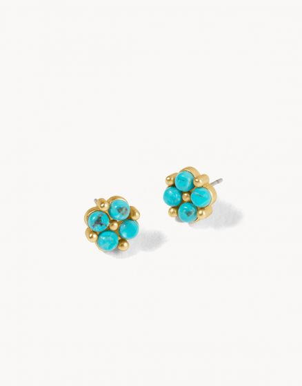 CLOVER STUD EARRINGS IN TURQUOISE
