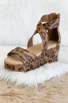 FAY LEOPARD WEDGE