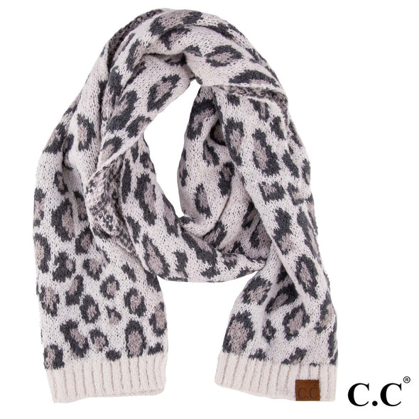 IVORY LEOPARD SCARF