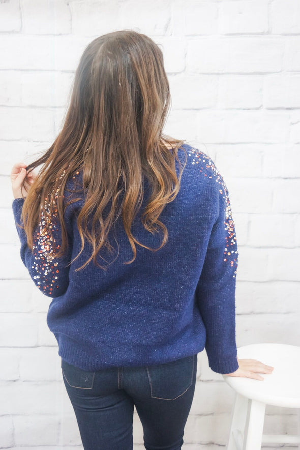 SEQUIN BLISS SWEATER