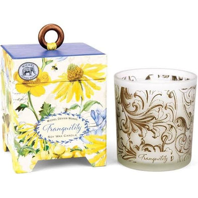 TRANQUILITY 6.5oz SOY WAX CANDLE