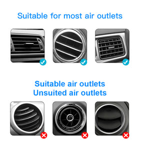 Qi Charging Smartphone Air Vent Mount