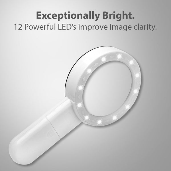LED Lighted Magnifying Glass, 5X High Power - ShopFancii.com
