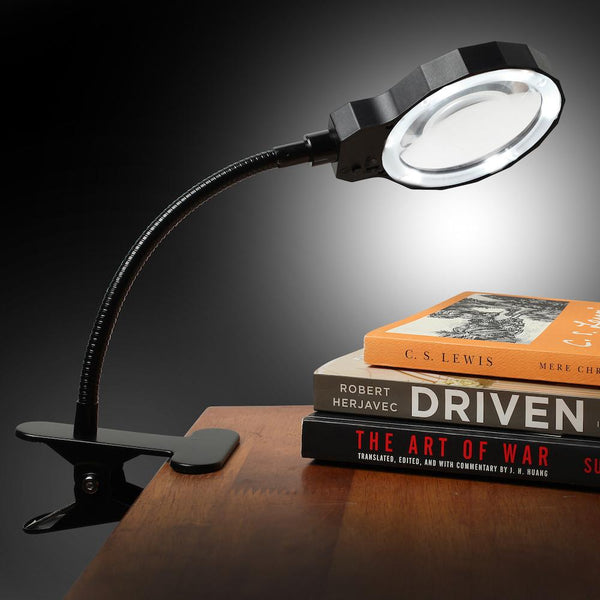 Daylight LED Magnifying Lamp with Clamp, 8 Diopter - ShopFancii.com
